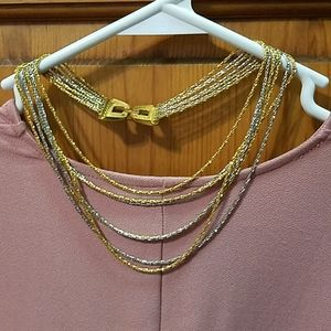 TRIFARI MULTI STRAND NECKLACE